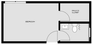 Bedroom floorpan 4